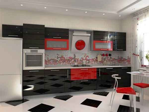 احدث مطابخ 2019 مطبخ احمر فى اسود