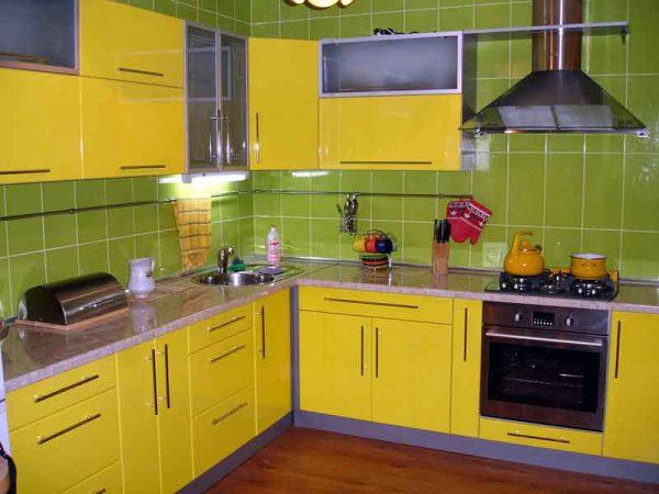 انواع مطابخ الالوميتال 2018 بالون الاصفر الكنارى