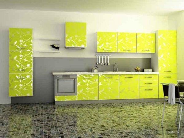 مطبخ الومنتال اصفر كناري