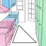 مثلث حركة المطبخ لتصميم اثاث المطبخ الحديث من الداخل