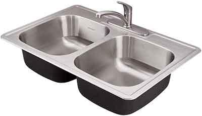 حلة حوض المطبخ داخل الرخام