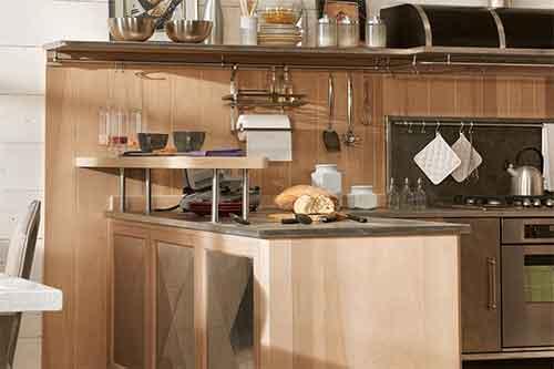 رفوف مطابخ و ديكورات مطابخ مفتوحة اشكال حديثة والوان جذابة