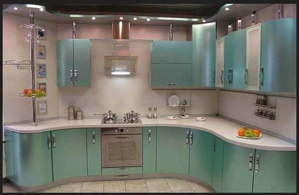 مطبخ المنيوم زاوية