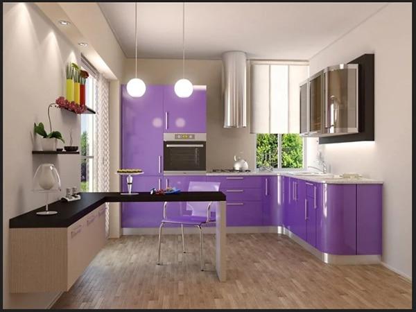 مطبخ لون موف 2019